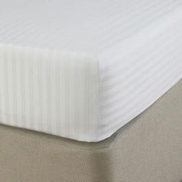 Простынь на резинке Jefferson Sateen white Stripe 150X190 Boston textile