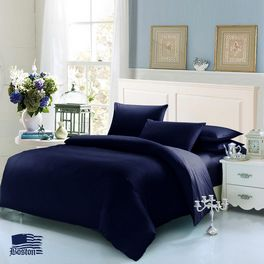 Постельное белье Jefferson Sateen Dark Blue 160x220 Boston textile