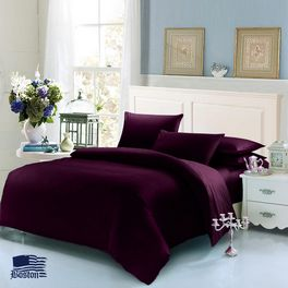 Постельное белье Jefferson Dark Plum 145x210 Boston textile (KBJSDP02)