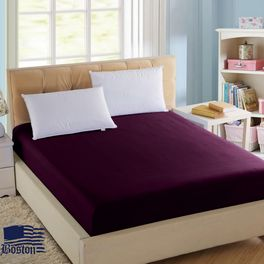 Простынь на резинке Jefferson 150х190 Dark Plum Boston textile (BJSDP150190)