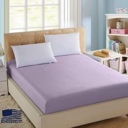 Простынь на резинке Jefferson Sateen Lilac 120x200 Boston textile